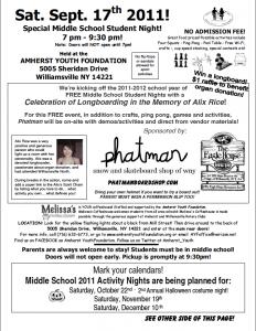 Alix Rice Middle School Benefit / Saturday Sept 17th / 7pm   Phatman